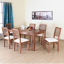 Dortmund 6 Seater Dining Set - @home by Nilkamal, New Natural