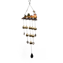 Hanging Bird on a Branch Large Windchime - @home by Nilkamal, Gold