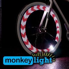 2 pcs x M210 MONKEY LIGHT - 80 Lumen - Bicycle/Cycle Wheel Light - 10 Full Color LED - Waterproof - HIGH PERFORMANCE Wheel LIGHT - MADE IN USA