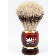 Omega 636 Silvertip 100% Badger shaving brush– Made in Italy