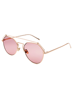 Roof Is On Wire Sunnies (Light Pink Lens)