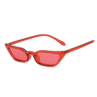 Lash Line Micro Red Sunglasses