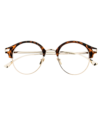 Half Frame Cat Eye Animal Print Frame