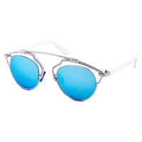 New Wave Metal Bridge Sunnies (Blue)