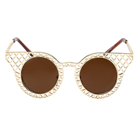 Caged Cat Eye Sunnies (Gold)