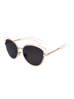 Kitty Corner Cat Eye Sunnies (Black Lens)