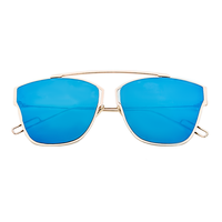 Big Cool For The Summer Sunnies (Blue With Gold Rim)