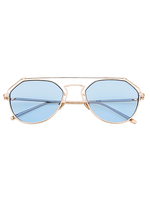 Roof Is On Wire Sunnies (Light Blue Lens)