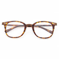 Thick Rim Animal Print Rectangular Frame