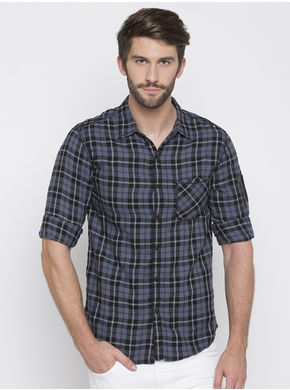 Printed Regular Shirt, 30,  navy