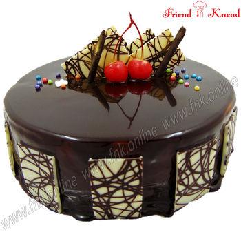 Eggless Choco Truffle Cake, 0.5 kg, select time, eggless