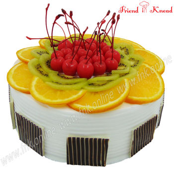 Exotic Fruit Cake Eggless, 1 kg, select time