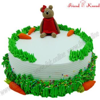 Teddy Bear Cake, 1 kg, egg