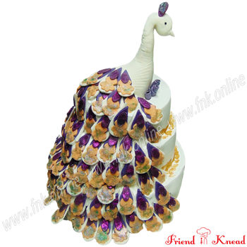 Beautiful Peacock Cake, eggless, select time, 5 kg