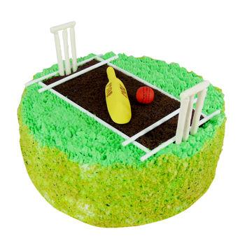 Cricket Stadium Cake, choco crunchy, 4 pm - 5 pm, 1 kg