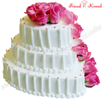 The Garden Rose Wedding Cake, 5 kg, egg, select time