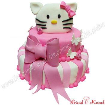 Kitty Theme Cake, 5 kg, egg
