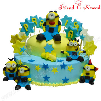 Happy Minions Cake, pineapple, 4 pm - 5 pm, 3 kg