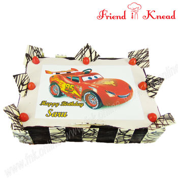 I Love Cars - Photo Cake, black forest, 5 pm - 6 pm, 1 kg