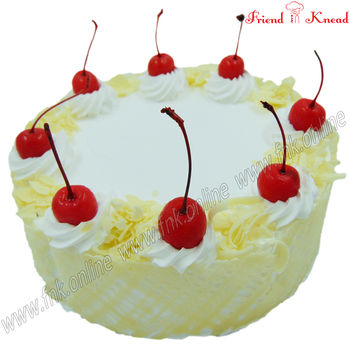 Eggless White Forest Cake, 0.5 kg, select time, eggless