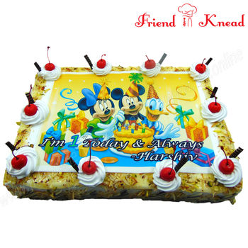 Mickey Mouse Photo Cake, 2 kg, choice 1, egg
