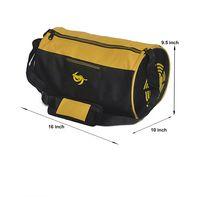 Gym Bag - -Round shape (M-0273-YLW-BLK)