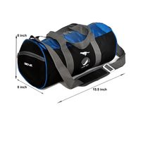 Gym Bag - -Round shape (MN-0282-BLU-BLK)