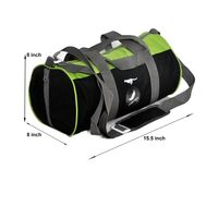 Gym Bag - -Round shape (MN-0282-GRN-BLK)