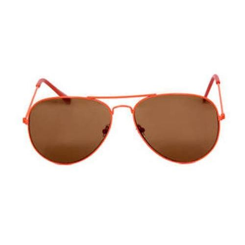 Orange Frame Brown Lens Aviator Sunglasses