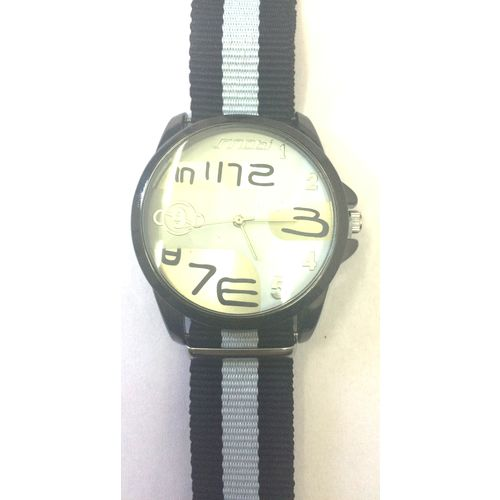 Black Nylon Strap Analog Men s Sports Quartz Watch