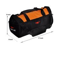 Gym Bag - -Round shape (MG-1014-ORG-BLK)