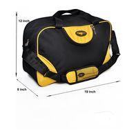 Gym Bag - D-Round shape (M-0269-YLW-BLK)