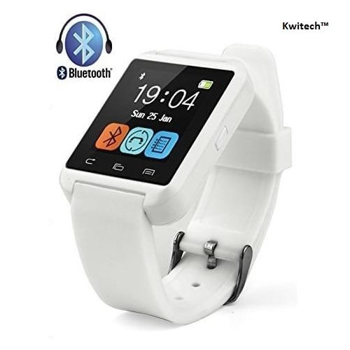 Kwitech™ Bluetooth 3.0 Smart Watch U8 For all Android Smart Phones & Apple iOS - White