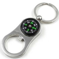 SuperDeals CompassKeychain with Bottle Opener