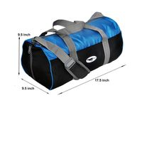 Gym Bag - -Round shape (MN-0286-BLU-BLK)