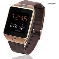 Kwitech™ Bluetooth 3.0 Smart Watch DZ09 with SIM Slot & Camera For all Android Smart Phones & Apple iOS - Rose Gold