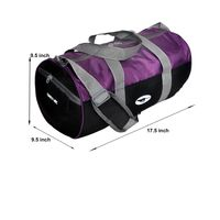 Gym Bag - -Round shape (MN-0286-PPL-BLK)