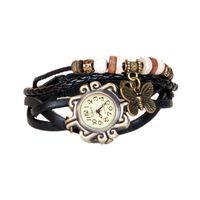 Vintage Style Black Casual Watch For Women