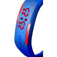 Dark Blue Plastic Digital Rectangular Bracelet Band LED Watch For Boys, Men, Girl, Women