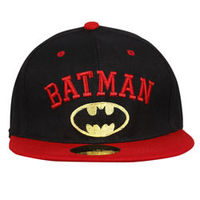 Capskart Snapback Fashion Cap with Batman Embroidery Black Red