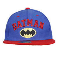 Capskart Snapback Fashion Cap with Batman Embroidery R Blue/Red