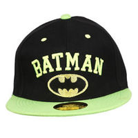 Capskart Snapback Fashion Cap with Batman Embroidery Black Green