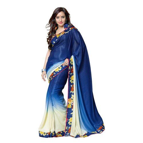 7 Colors Lifestyle Silk jacquard Jacquard Printed Saree - AATSR909VRSI