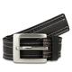 47 Maple Black Leather Belt