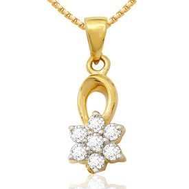 Diamond Pendants - BAPS0217PA, si - ijk, 14 kt