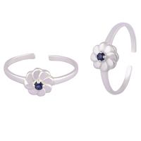 Lil Flower Silver Toe Rings-TRMX115