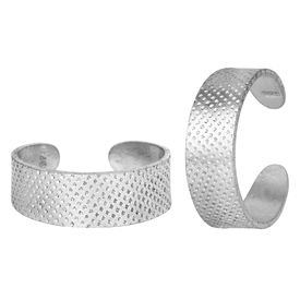 Classy Plain Engraved Silver Toe Ring-TRRD004