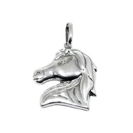 Gleaming Horse Silver Pendant-PD121