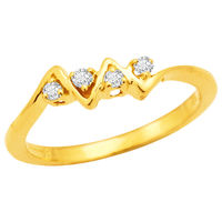 Diamond Rings - BAR286, si - ijk, 12, 18 kt
