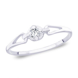 Classic CZ Silver Finger Ring-FRL019